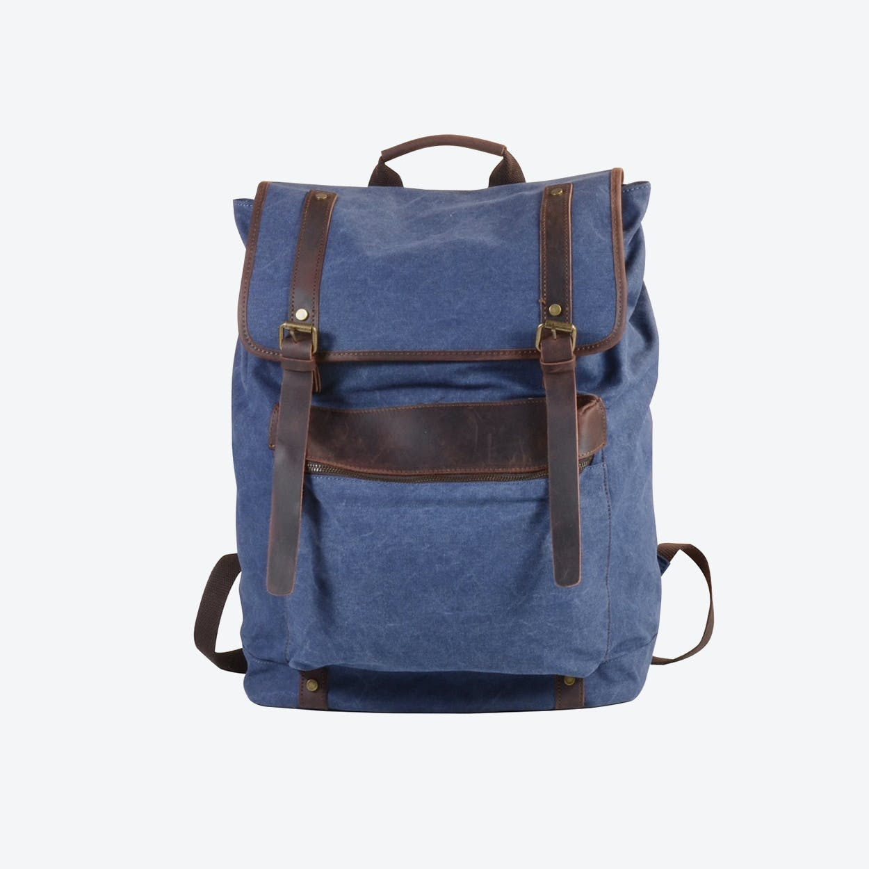 Extra Large Canvas Backpack in Blue
