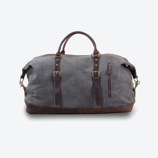 Canvas Classic Travel Holdall Bag in Grey