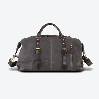 Waxed Classic Travel Holdall Bag in Grey