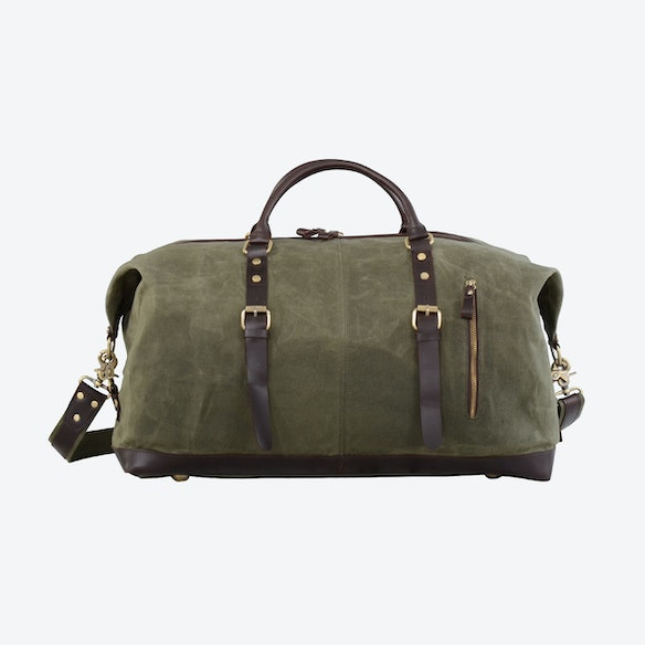 7d8f2cc1f1 Waxed Classic Travel Holdall Bag in Green by Eazo - Fy