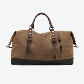 Canvas Classic Travel Holdall Bag in Brown