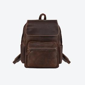 Vintage Leather Backpack in Dark Brown