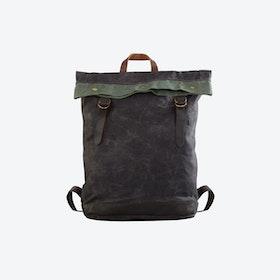Waxed Canvas Bucket Backpack in Grey