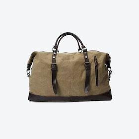 Canvas Classic Travel Holdall Bag in Khaki