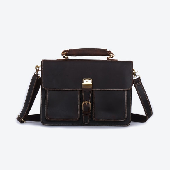 Vintage Look Leather Briefcase by Eazo - Fy 3d191bfd02e13