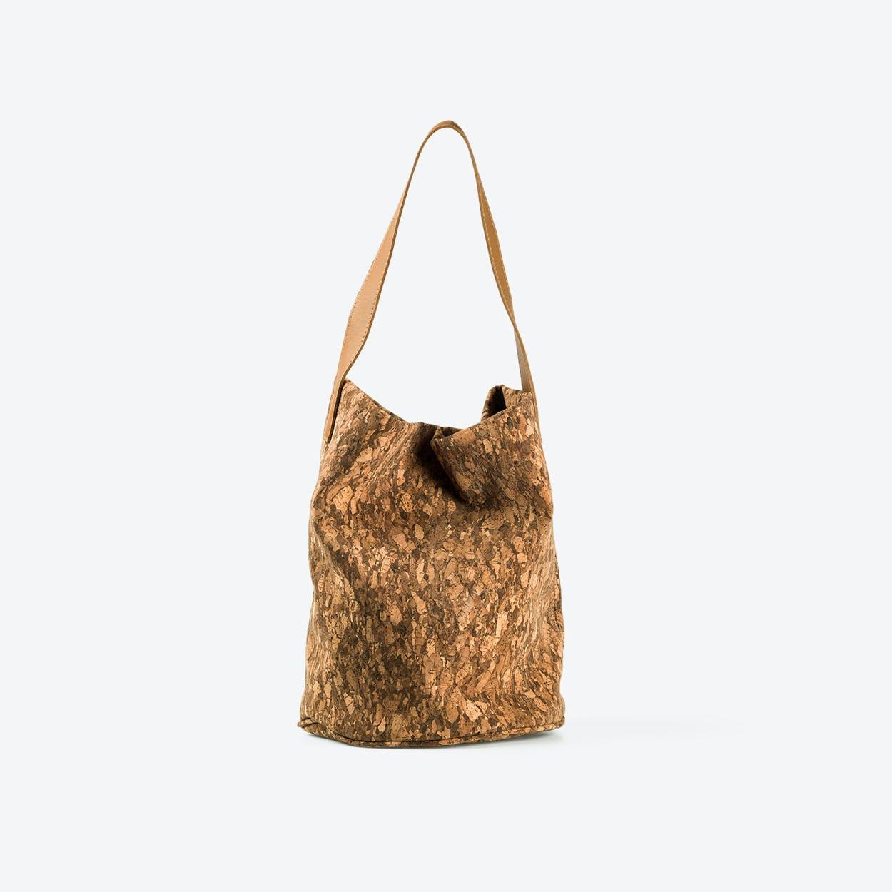WENDY Dark Cork Shoulder Bag