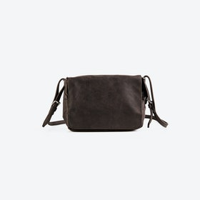 PEGGY Brown Leather Shoulder Bag