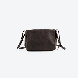 PEGGY Brown Leather Shoulder Bag