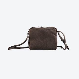 POPINA Brown Leather Shoulder Bag