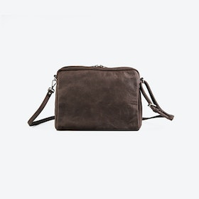POPINS Brown Leather Shoulder Bag