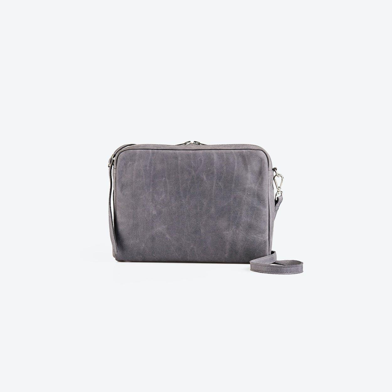POPINS Blue Leather Shoulder Bag