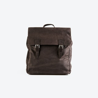 PETERSON Brown Leather Backpacks