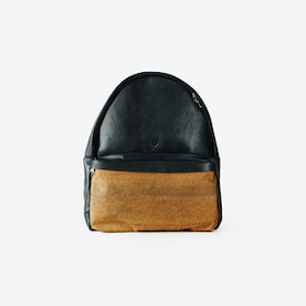 LUDWIG Caramel Fish Leather Backpacks