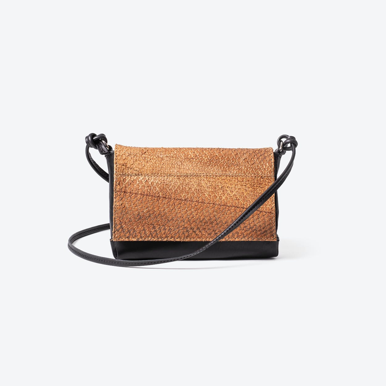 LOLA Caramel Fish Leather Clutches