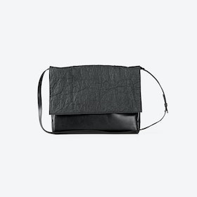 LILLY Charcoal Pinatex/Vegan Clutches