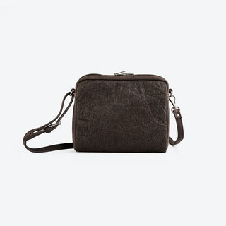 POPINA Brown Pinatex Shoulder Bag