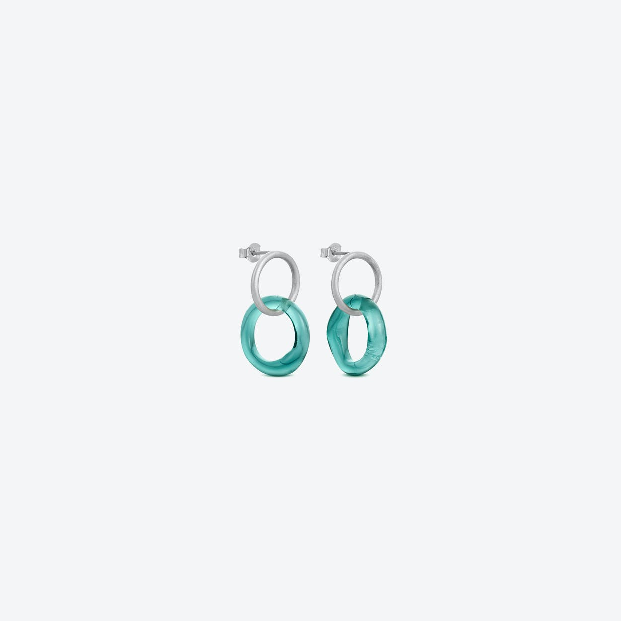 Caramel Earrings in Sea-Blue