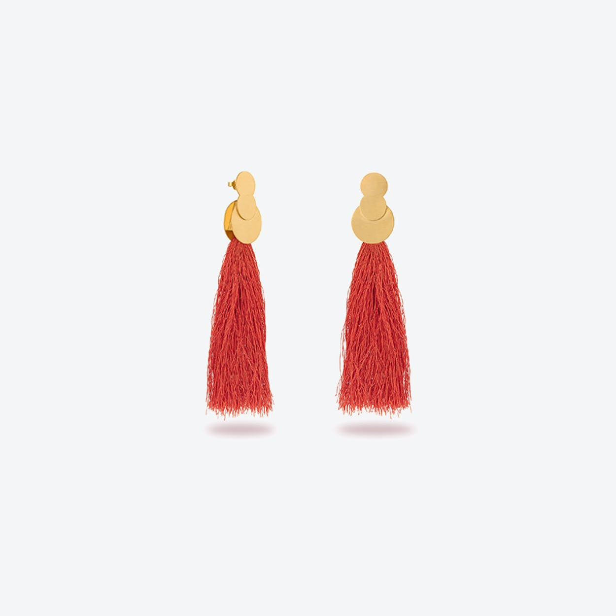 La Nuit Earrings in Coral