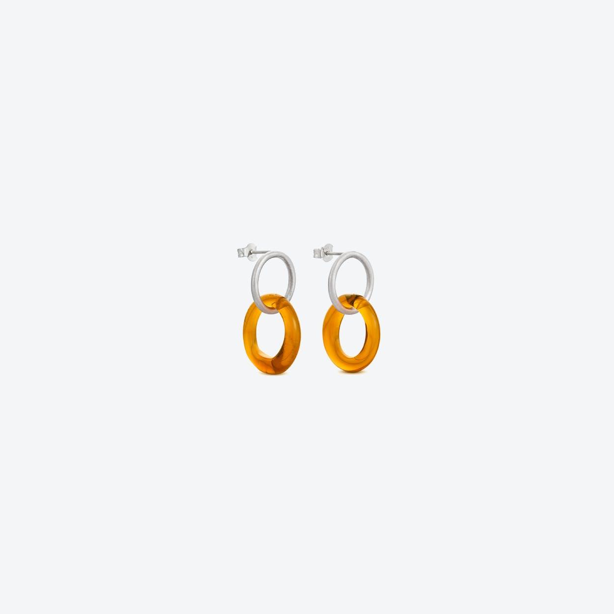 Caramel Earrings in Honey