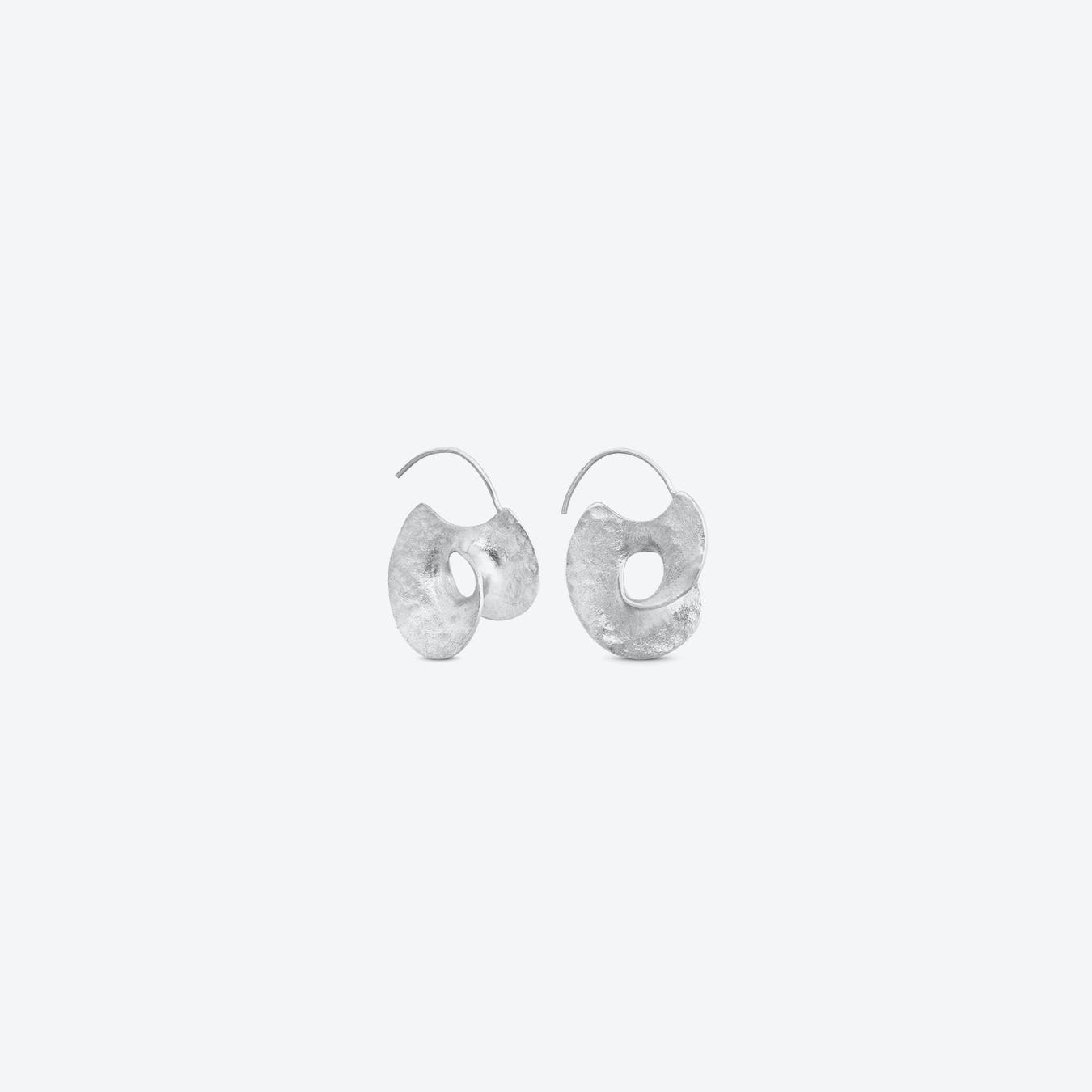Silver Infinite Love Earrings