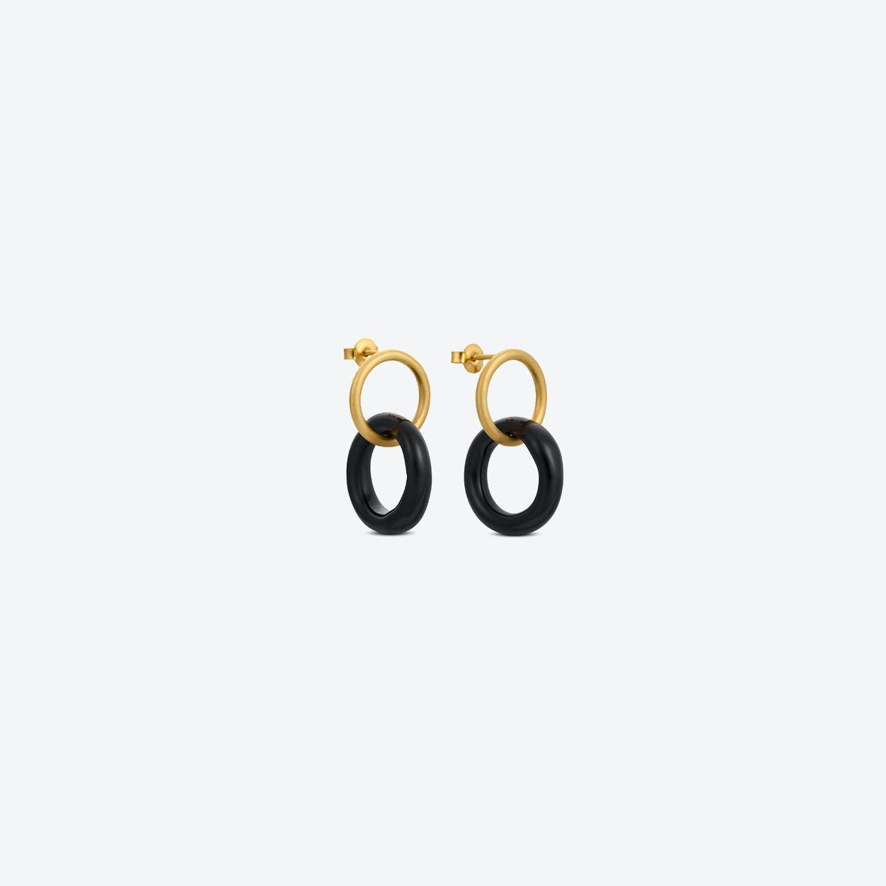 Caramel Earrings in Black