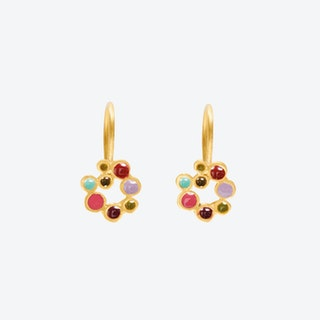 CANDY COLOURS Gold Earrings