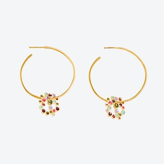 Gold Earrings CANDY COLOURS