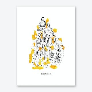Thinker Art Print