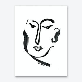 Glancing Art Print