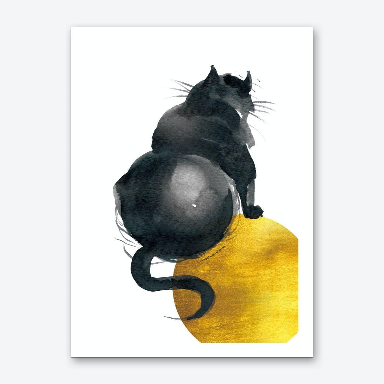 Fat Cat Back Art Print