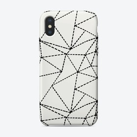 Ab Dotted Lines White iPhone Case