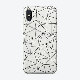 Ab White iPhone Case