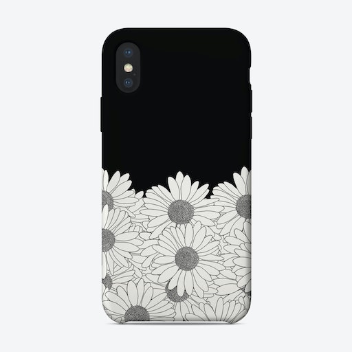 Daisy Black Boarder iPhone Case