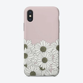 Daisy Pink Boarder iPhone Case