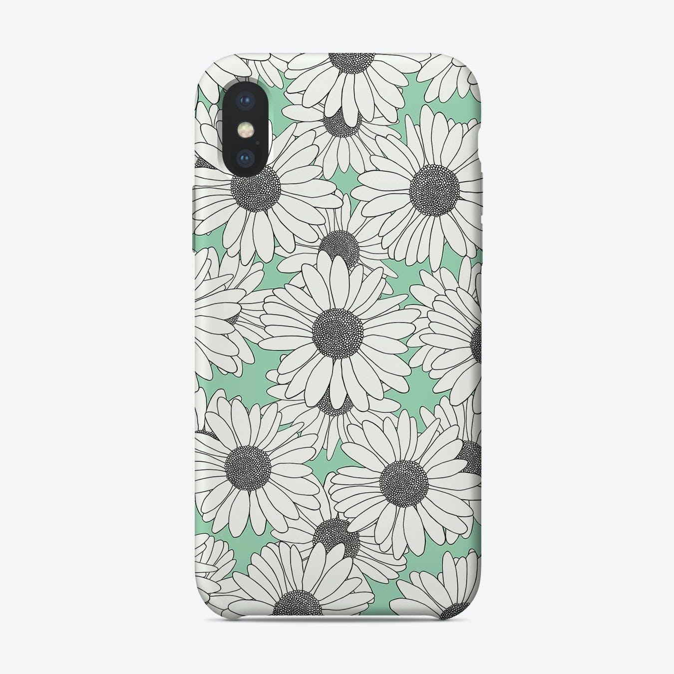 Daisy Mint Blocks iPhone Case