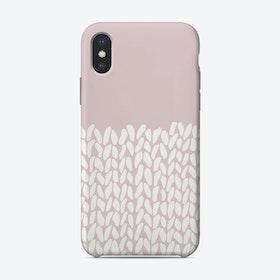 Pink Half Knit iPhone Case