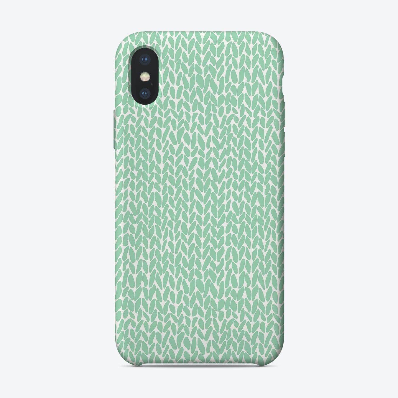 Mint Knit  iPhone Case