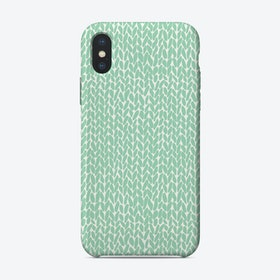 Mint Knit  iPhone Case