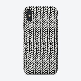 Hand Knit Black iPhone Case