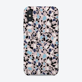 Terrazzo Spot Blue Blush iPhone Case