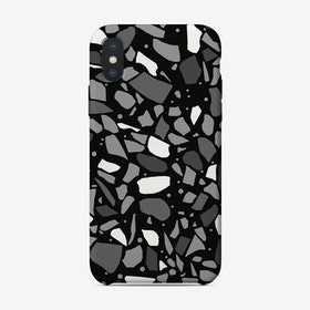 Terrazzo Spot Grey Black iPhone Case