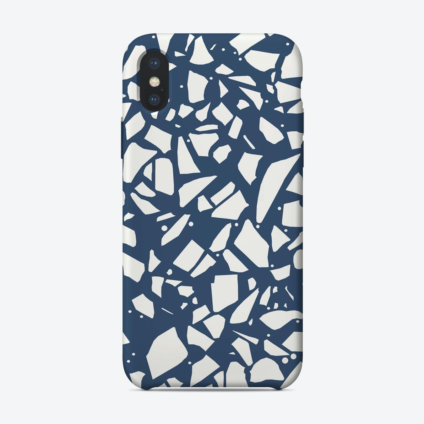 Terrazzo Spot Navy IPhone Case