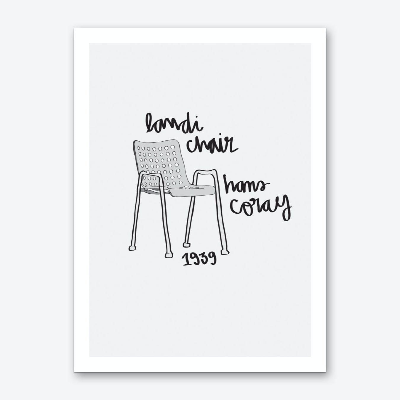 Landi Chair Art Print