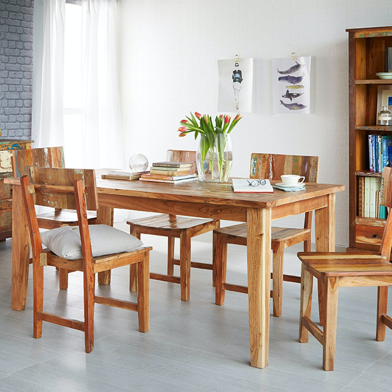Large Reclaimed Wood Dining Table By
