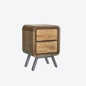 ASPEN 2 Drawer Lamp Table