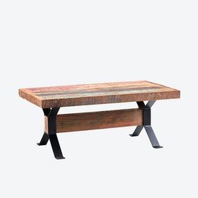 Coffee Table in Reclaimed Wood