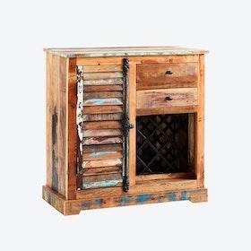Reclaimed Wood Wine Rack Sideboard