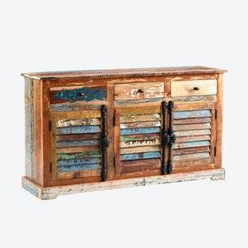 Large Reclaimed Wood Sideboard