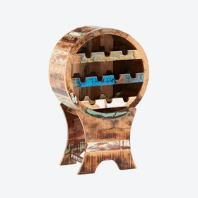 Reclaimed Wood Wine Cabinet