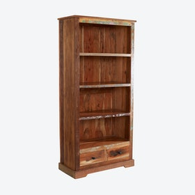Large Reclaimed Wood Bookcase